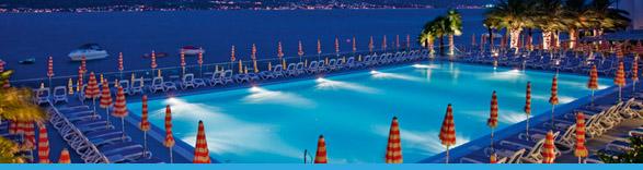 Piscina hotel ideal limone sul garda italia - Hotel con piscina coperta riva del garda ...