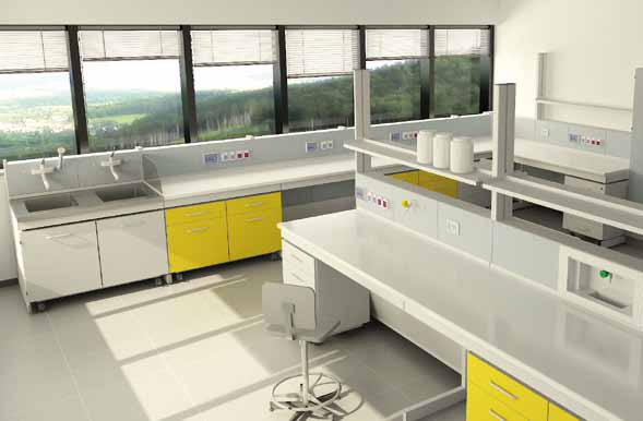 Arredi tecnici e cappe newproject srl for Arredi tecnici laboratorio