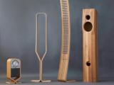 Stereo casse legno curve