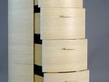 Settimino completo di cassetti curvi legno