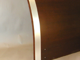 Testiera letto curva bordo laminato alluminio
