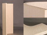 Curved door plated wave wood<br />