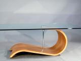 Tavolino legno curvo