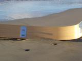 Doccia curva design con materiale idrofugo